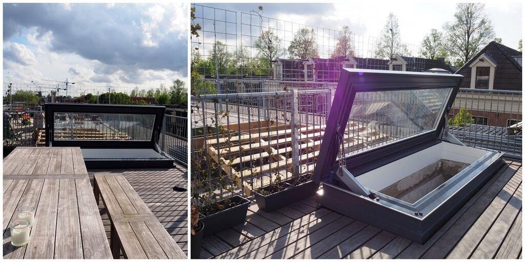 Remplacer l'ancienne fenêtre de toit avec fuite par une fenêtre de toit électrique avec vue uniquement sur le ciel