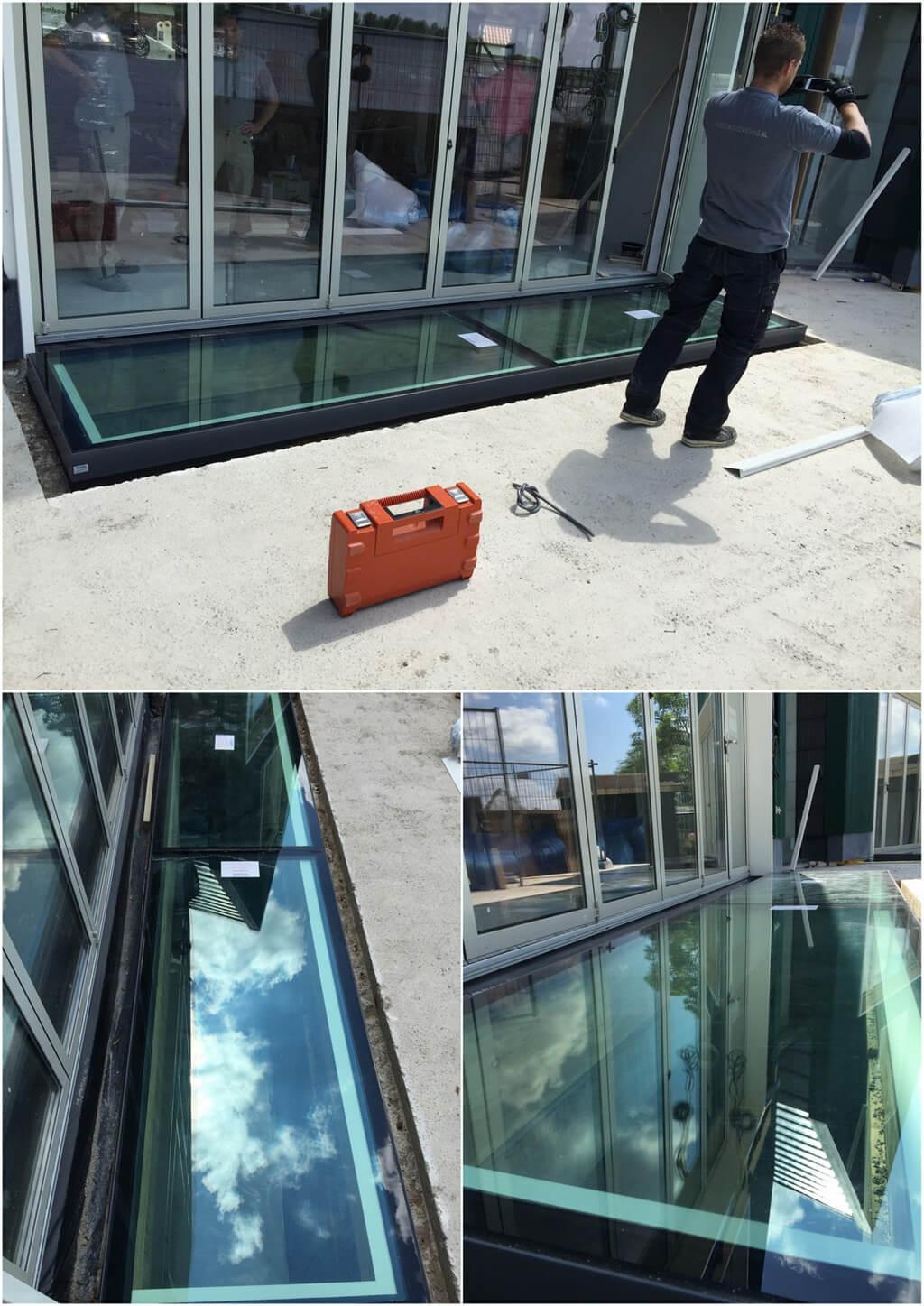 Solution alternative : vitres de sol sur 4 costières autour