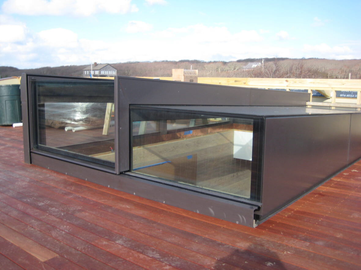 Sliding Rooflight sur mesure pendant l'installation :