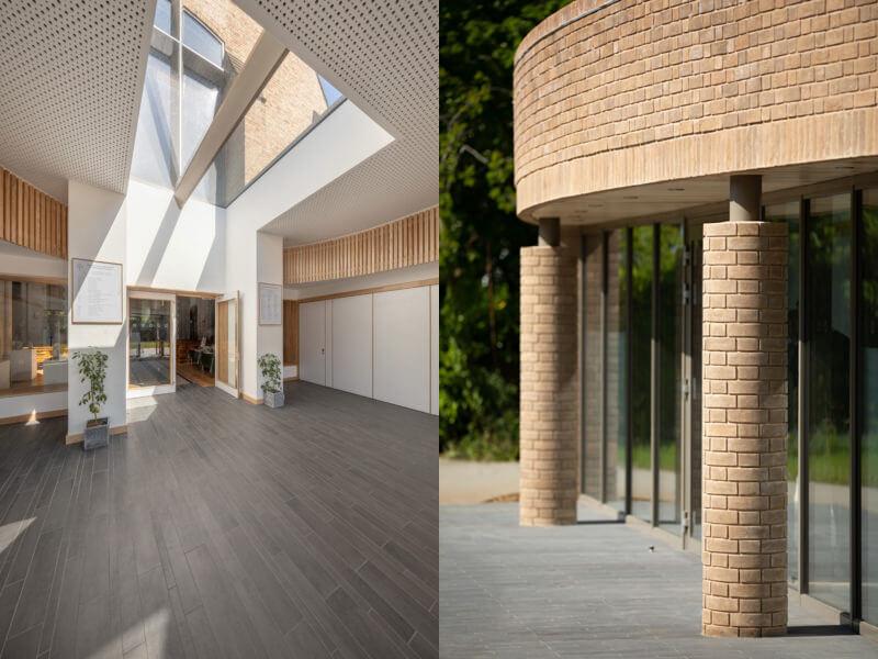 Le look minimaliste et la vue uniquement sur le ciel permettent à la fenêtre de toit de s'intégrer parfaitement dans le projet.