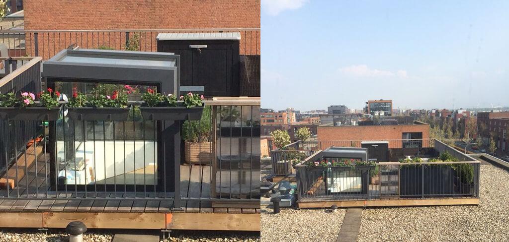 L'accès au toit coulissant indépendant à IJburg