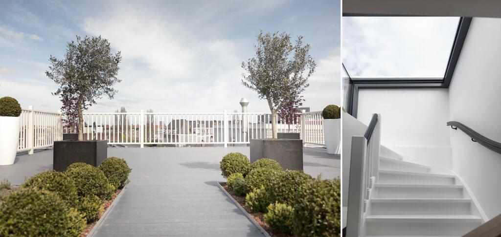Three Wall Box offre à la Weesperzijde un accès optimal à la grande terrasse sur le toit.