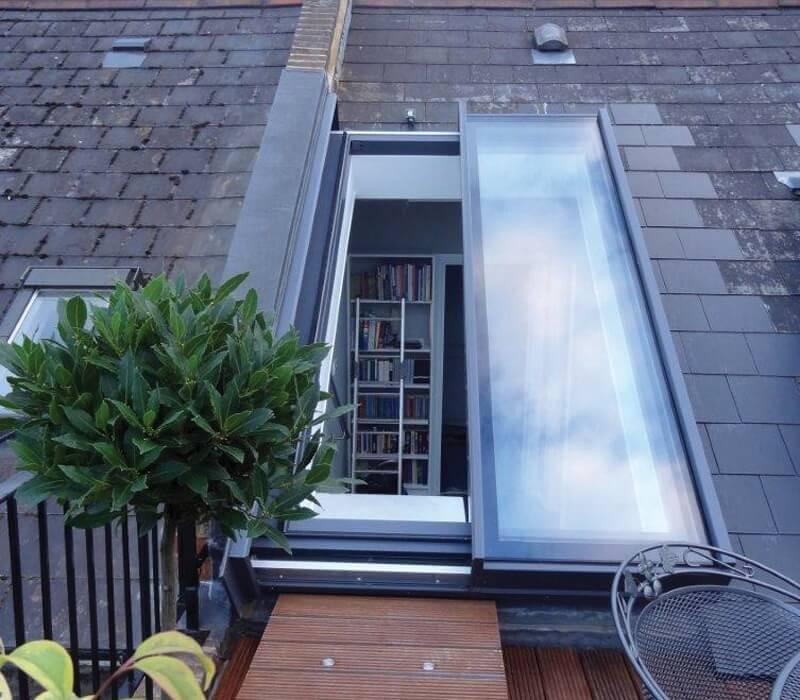 Fen tre de toit coulissante partielle glazing vision europe - Fenetre de toit terrasse ...